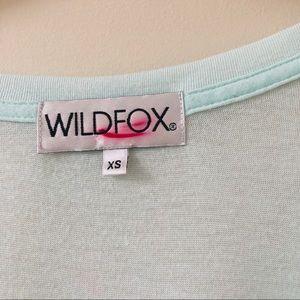 Wildfox Tops - Wildfox Around Here We Have Dessert First Blue Tee